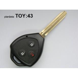 Toyota 3 tlačidlový +TOY43...