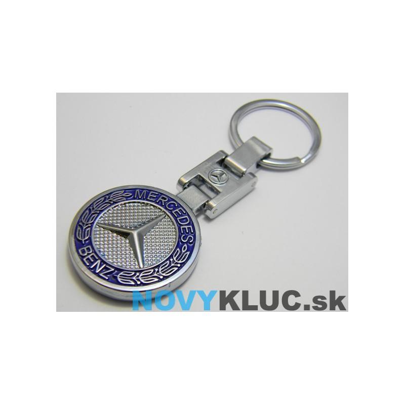 Kovová kľúčenka s logom MERCEDES