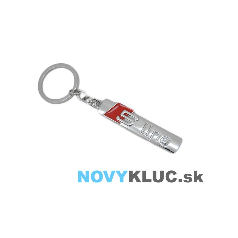 Kovová kľúčenka s logom AUDI S line