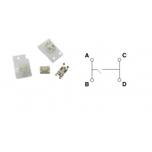 Mikrospínač SMD  5,1 X 3,2...
