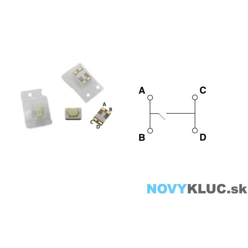 Mikrospínač SMD  5,1 X 3,2 X 2,4 mm