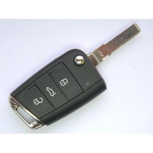 ŠKODA 3 tlačidlový kľúč 434...
